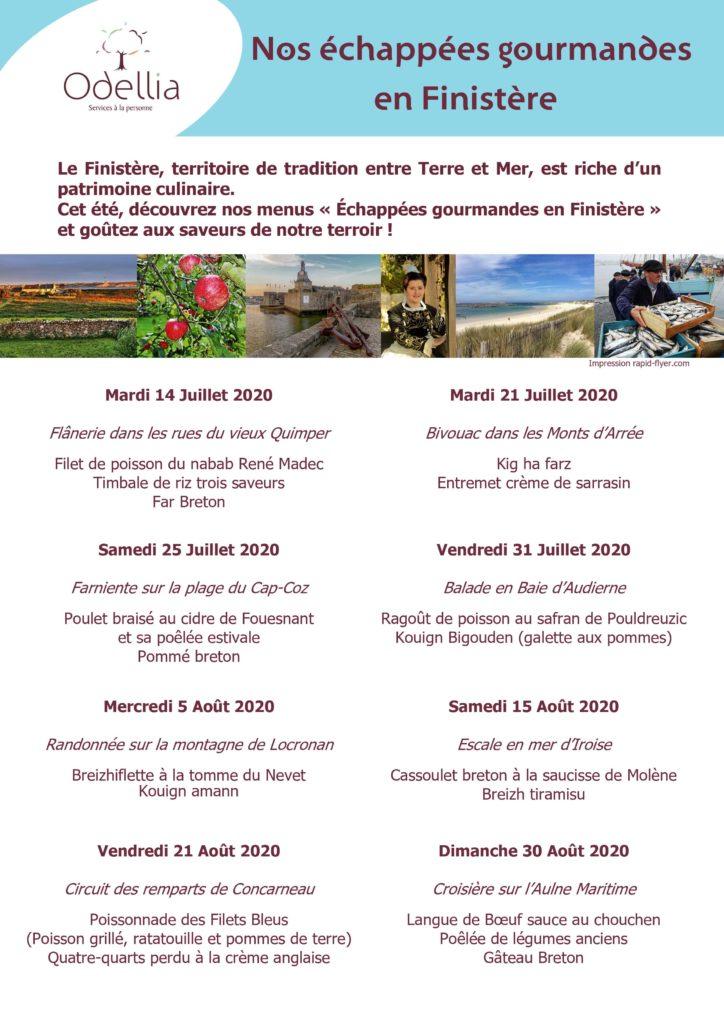 Menus été 2020 Odellia pour découvrir la gastronomie bretonne