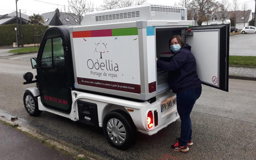 Livraison des repas à Quimper : Odellia Services passe au vert à 100%